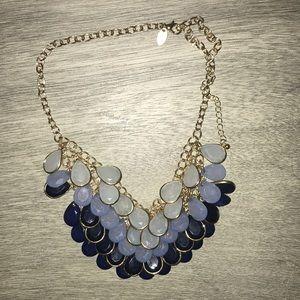 Ombré blue necklace